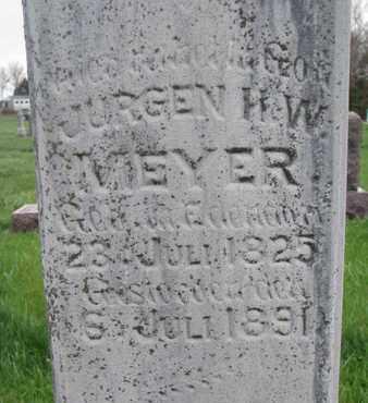 MEYER, JURGEN H.W. (CLOSE UP) - Cuming County, Nebraska | JURGEN H.W. (CLOSE UP) MEYER - Nebraska Gravestone Photos