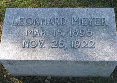 MEYER, LEONHARD - Cuming County, Nebraska | LEONHARD MEYER - Nebraska Gravestone Photos