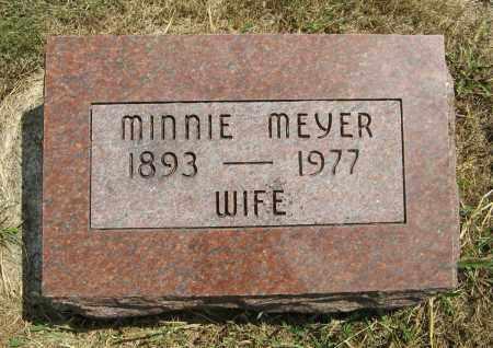 MEYER, MINNIE - Cuming County, Nebraska | MINNIE MEYER - Nebraska Gravestone Photos