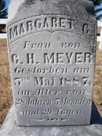 MEYER, MARGARET G. (CLOSEUP) - Cuming County, Nebraska | MARGARET G. (CLOSEUP) MEYER - Nebraska Gravestone Photos