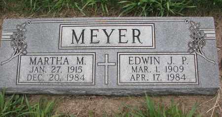 MEYER, EDWIN J.P. - Cuming County, Nebraska | EDWIN J.P. MEYER - Nebraska Gravestone Photos