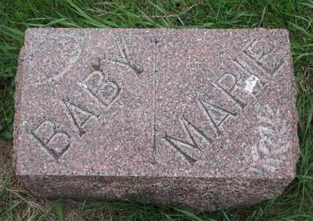 MEYER, BABY (FOOT STONE) - Cuming County, Nebraska   BABY (FOOT STONE) MEYER - Nebraska Gravestone Photos