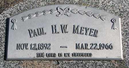 MEYER, PAUL H.W. - Cuming County, Nebraska | PAUL H.W. MEYER - Nebraska Gravestone Photos
