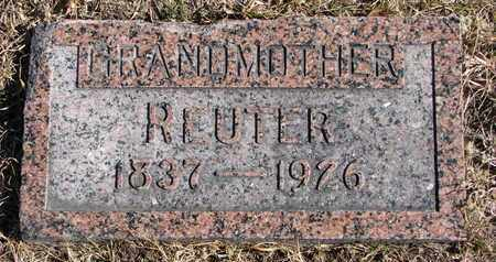 MEYER, REUTER - Cuming County, Nebraska | REUTER MEYER - Nebraska Gravestone Photos