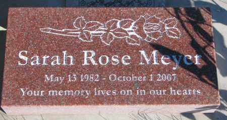 MEYER, SARAH ROSE - Cuming County, Nebraska | SARAH ROSE MEYER - Nebraska Gravestone Photos