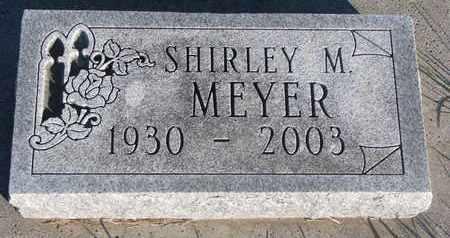 MEYER, SHIRLEY M. - Cuming County, Nebraska | SHIRLEY M. MEYER - Nebraska Gravestone Photos