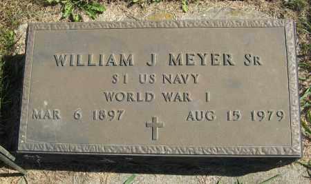 MEYER, WILLIAM J., SR. (MILITARY MARKER) - Cuming County, Nebraska | WILLIAM J., SR. (MILITARY MARKER) MEYER - Nebraska Gravestone Photos