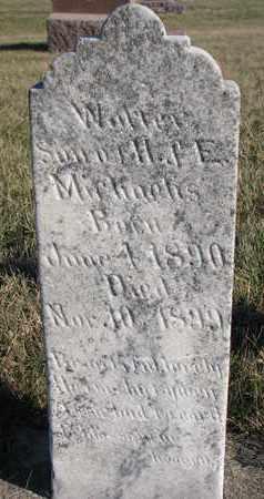 MICHAELIS, WALTER - Cuming County, Nebraska | WALTER MICHAELIS - Nebraska Gravestone Photos
