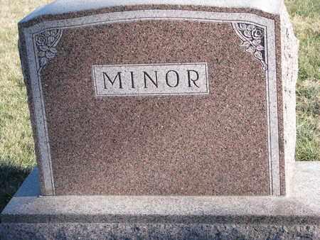 MINOR, (FAMILY MONUMENT) - Cuming County, Nebraska   (FAMILY MONUMENT) MINOR - Nebraska Gravestone Photos