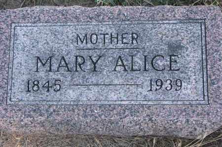 MINOR, MARY ALICE - Cuming County, Nebraska | MARY ALICE MINOR - Nebraska Gravestone Photos