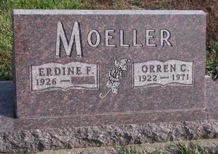 MOELLER, ERDINE F. - Cuming County, Nebraska | ERDINE F. MOELLER - Nebraska Gravestone Photos