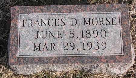 MORSE, FRANCES D. - Cuming County, Nebraska | FRANCES D. MORSE - Nebraska Gravestone Photos