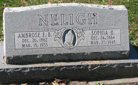 NELIGH, AMBROSE E.B. - Cuming County, Nebraska | AMBROSE E.B. NELIGH - Nebraska Gravestone Photos