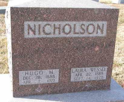 WESSEL NICHOLSON, LAURA - Cuming County, Nebraska   LAURA WESSEL NICHOLSON - Nebraska Gravestone Photos