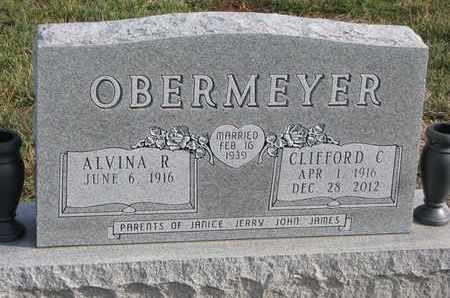 OBERMEYER, ALVINA R. - Cuming County, Nebraska | ALVINA R. OBERMEYER - Nebraska Gravestone Photos