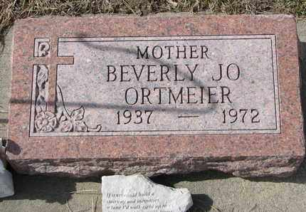 ORTMEIER, BEVERLY JO - Cuming County, Nebraska | BEVERLY JO ORTMEIER - Nebraska Gravestone Photos