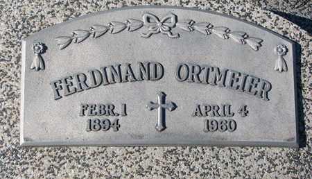 ORTMEIER, FERDINAND - Cuming County, Nebraska   FERDINAND ORTMEIER - Nebraska Gravestone Photos