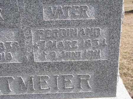 ORTMEIER, FERDINAND (CLOSE UP) - Cuming County, Nebraska | FERDINAND (CLOSE UP) ORTMEIER - Nebraska Gravestone Photos