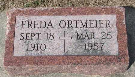 ORTMEIER, FREDA - Cuming County, Nebraska | FREDA ORTMEIER - Nebraska Gravestone Photos