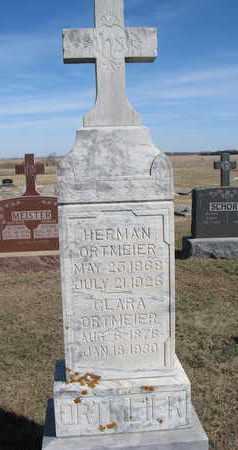 ORTMEIER, HERMAN - Cuming County, Nebraska | HERMAN ORTMEIER - Nebraska Gravestone Photos