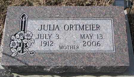 ORTMEIER, JULIA - Cuming County, Nebraska | JULIA ORTMEIER - Nebraska Gravestone Photos