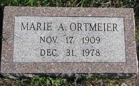ORTMEIER, MARIE A. - Cuming County, Nebraska   MARIE A. ORTMEIER - Nebraska Gravestone Photos