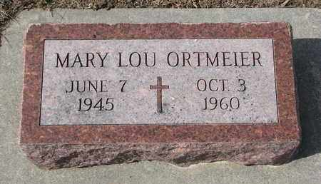 ORTMEIER, MARY LOU - Cuming County, Nebraska | MARY LOU ORTMEIER - Nebraska Gravestone Photos