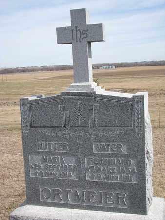 ORTMEIER, MARIA - Cuming County, Nebraska | MARIA ORTMEIER - Nebraska Gravestone Photos