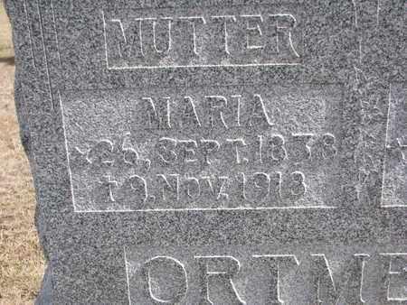 ORTMEIER, MARIA (CLOSE UP) - Cuming County, Nebraska | MARIA (CLOSE UP) ORTMEIER - Nebraska Gravestone Photos