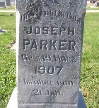 PARKER, JOSEPH (CLOSE UP) - Cuming County, Nebraska   JOSEPH (CLOSE UP) PARKER - Nebraska Gravestone Photos