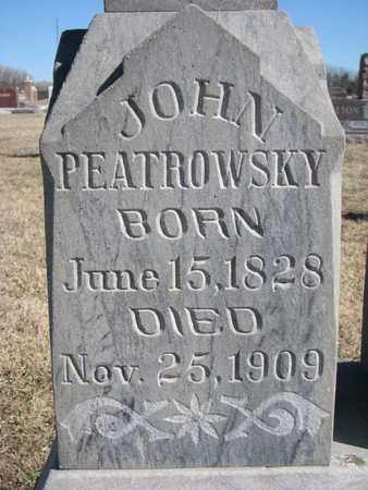 PEATROWSKY, JOHN (CLOSE UP) - Cuming County, Nebraska | JOHN (CLOSE UP) PEATROWSKY - Nebraska Gravestone Photos
