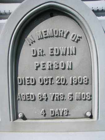 PERSON, EDWIN (CLOSE UP) - Cuming County, Nebraska | EDWIN (CLOSE UP) PERSON - Nebraska Gravestone Photos