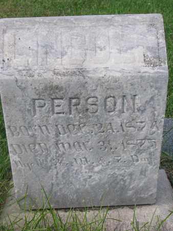 PERSON, LINCOLN - Cuming County, Nebraska | LINCOLN PERSON - Nebraska Gravestone Photos