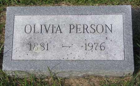 PERSON, OLIVIA - Cuming County, Nebraska | OLIVIA PERSON - Nebraska Gravestone Photos