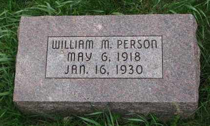 PERSON, WILLIAM M. - Cuming County, Nebraska | WILLIAM M. PERSON - Nebraska Gravestone Photos