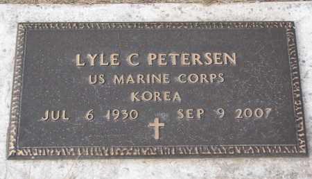 PETERSEN, LYLE C. (MILITARY MARKER) - Cuming County, Nebraska | LYLE C. (MILITARY MARKER) PETERSEN - Nebraska Gravestone Photos