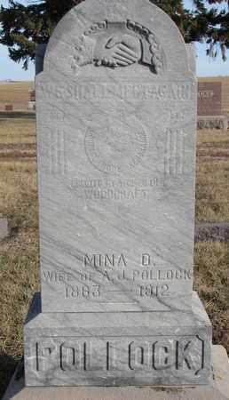 POLLOCK, MINA D. - Cuming County, Nebraska | MINA D. POLLOCK - Nebraska Gravestone Photos