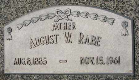 RABE, AUGUST W. - Cuming County, Nebraska | AUGUST W. RABE - Nebraska Gravestone Photos