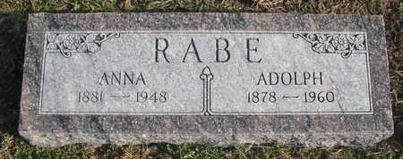 RABE, ADOLPH - Cuming County, Nebraska | ADOLPH RABE - Nebraska Gravestone Photos