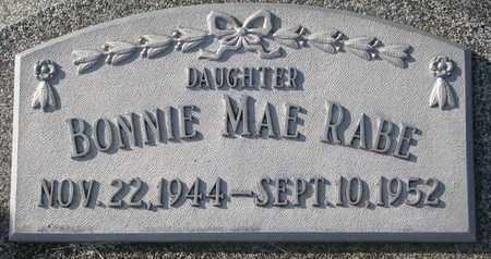 RABE, BONNIE MAE - Cuming County, Nebraska | BONNIE MAE RABE - Nebraska Gravestone Photos