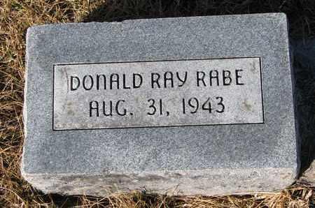 RABE, DONALD RAY - Cuming County, Nebraska   DONALD RAY RABE - Nebraska Gravestone Photos