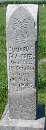 RABE, EDUARD - Cuming County, Nebraska   EDUARD RABE - Nebraska Gravestone Photos