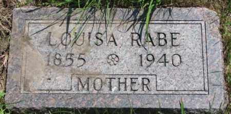 RABE, LOUISA - Cuming County, Nebraska | LOUISA RABE - Nebraska Gravestone Photos