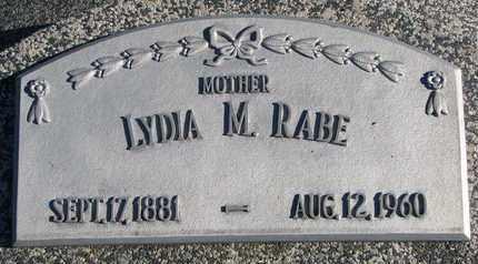 RABE, LYDIA M. - Cuming County, Nebraska | LYDIA M. RABE - Nebraska Gravestone Photos