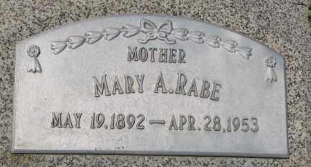 RABE, MARY A. - Cuming County, Nebraska | MARY A. RABE - Nebraska Gravestone Photos