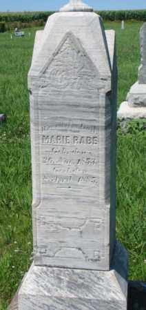 RABE, MARIE - Cuming County, Nebraska | MARIE RABE - Nebraska Gravestone Photos