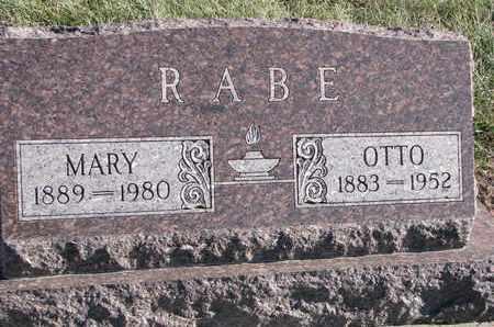 RABE, MARY - Cuming County, Nebraska | MARY RABE - Nebraska Gravestone Photos