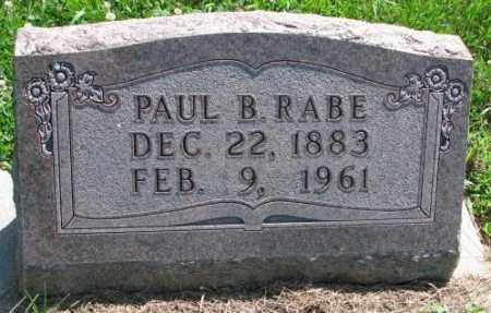 RABE, PAUL B. - Cuming County, Nebraska | PAUL B. RABE - Nebraska Gravestone Photos