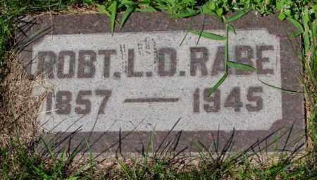 RABE, ROBT. L.D. - Cuming County, Nebraska   ROBT. L.D. RABE - Nebraska Gravestone Photos