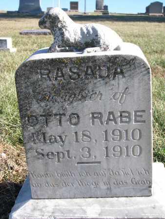 RABE, RASADA - Cuming County, Nebraska | RASADA RABE - Nebraska Gravestone Photos